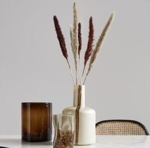 Pearl/Brown Deco Bottle Vase