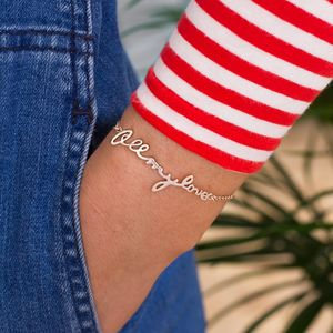 All My Love Personalised Bracelet - bracelets & bangles