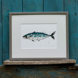 Fish Limited Edition Print Mackerel - limited edition art