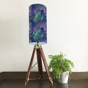 Tropical Bird Patterned Lampshade