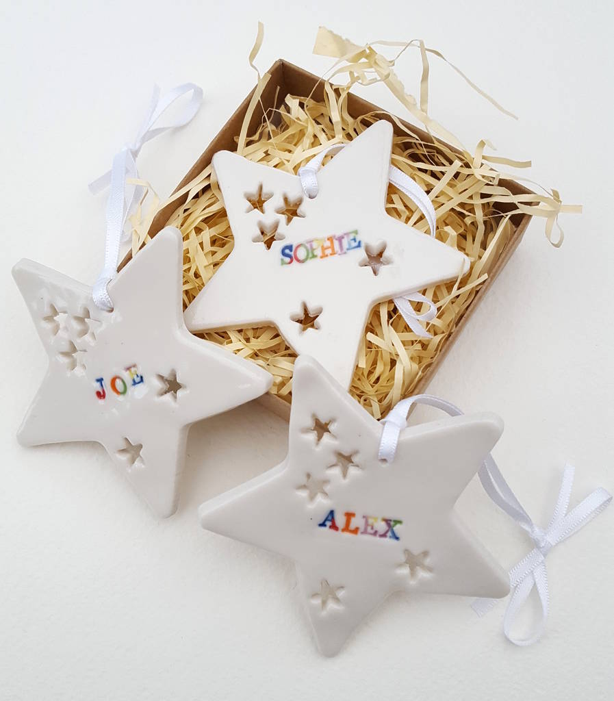 Personalised Star Decoration