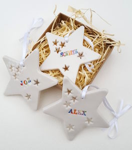 Personalised Star Decoration - ornaments