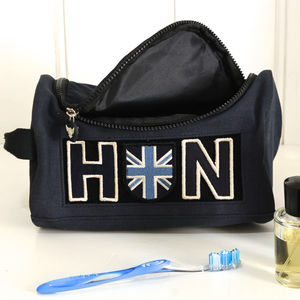 Personalised Heritage Wash Bag - gifts for him sale