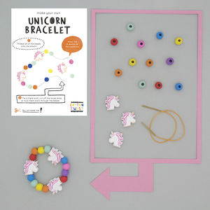 Make Your Own Unicorn Bracelet Kit - party bags and ideas