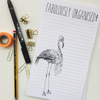 Fabulously Organised Notepad