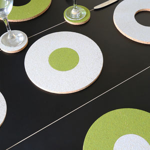 Eco Cork Placemat And Coaster Mix And Match Set Of Four