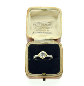 Solitaire Ring With Gold Collet - wedding fashion