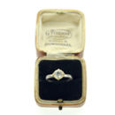 Solitaire Ring With Gold Collet