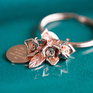 Roses Are Red Keyring - personalised gifts for her