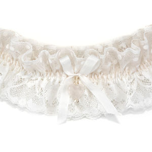 Odiana Ivory And Palest Blush Pink Wedding Garter - bridal garters