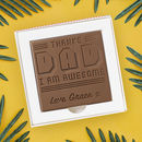 Personalised 'I'm Awesome' Father's Day Chocolate Card