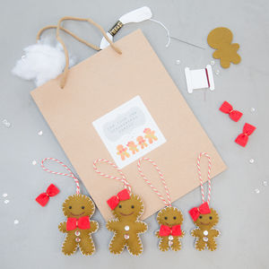 Make Your Own Gingerbread Family Kit - decoration making kits