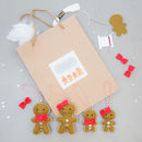 Make Your Own Gingerbread Family Kit