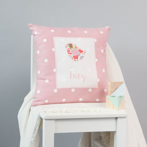 Personalised New Baby Girl Gift - personalised cushions
