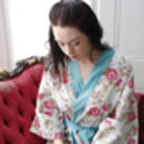 Cotton Wrap Over Kimono in Blue Beautiful