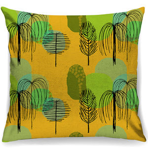 Yellow Trees Mid Century Inspired Cushion + Waterproof - bedroom