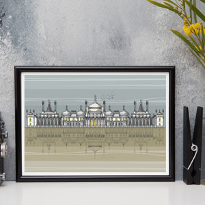 Brighton Pavilion Full Architectural Print - canvas prints & art