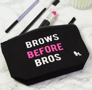 'Brows Before Bros' Make Up Bag - health & beauty sale