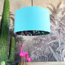 Midnight Blue Chi Miracle Lampshades In Sky Blue Cotton
