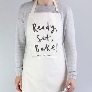 Ready Set Bake Personalised Apron - for cooking enthusiasts