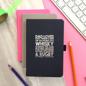 Personalised Loves List Notebook