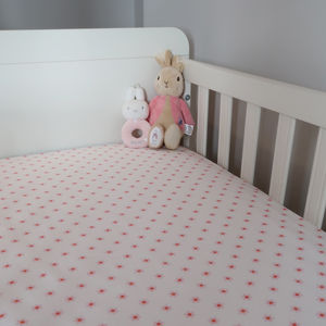 Pinwheel Fitted Cotbed Sheet