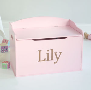 Large Pink Toy Chest