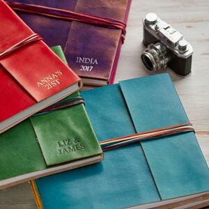 Personalised Distressed Coloured Leather Photo Album