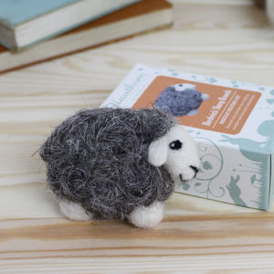 Herdwick Sheep Brooch Needle Felting Kit - toys & games