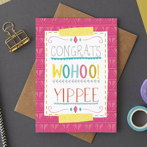 Congratulations Greetings Card - winter sale