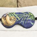 Personalised Sloth Sleeping Eye Mask, Travel Gift