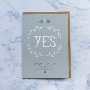 'Yes' Engagement Card