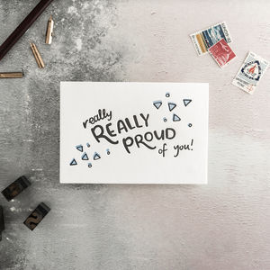Really Really Proud Of You Letterpress Card - congratulations cards