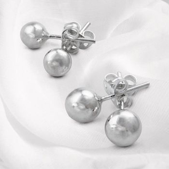 Classic Ball Sterling Silver Everyday Stud Earrings