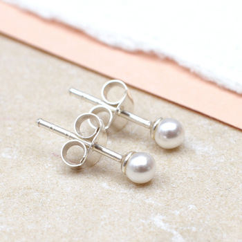 Girl's Pearl And Sterling Silver Earrings