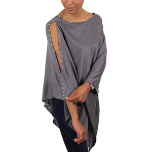 Pearl Light Weight Wool Poncho - ponchos & wraps