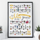 Personalised 50th Golden Wedding Anniversary Print