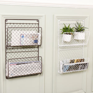 Farmhouse Mail And Magazine Store - storage & organisers