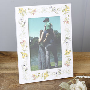 Spring Meadow Wild Flower Photo Frame - picture frames