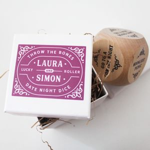 Personalised Date Night Dice With Presentation Box - decoration
