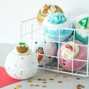 Zingy Christmas Bath Bomb - stocking fillers for her