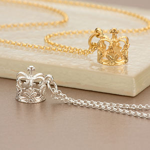 Crown Necklace With Personalised Gift Message