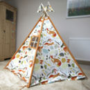 Woodland Fox Print Wigwam With Flags