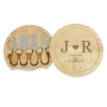 Personalised Initials Cheeseboard