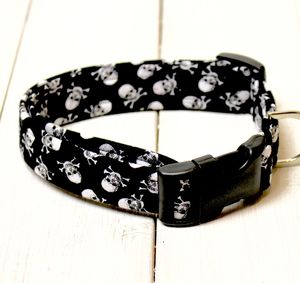 Skull And Crossbones Dog Collar - dog collars