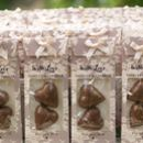 Chocolate Hearts Personalised Lace Wedding Favours