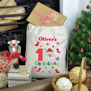 Personalised Baby 1st Christmas Sack