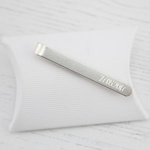 Sterling Silver Personalised Men's Tie Slide