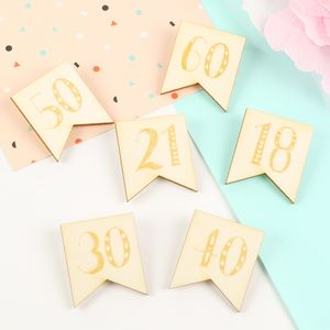 Engraved Wooden Milestone Birthday Badge