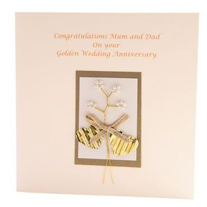 Golden Wedding Anniversary Card Personalised
